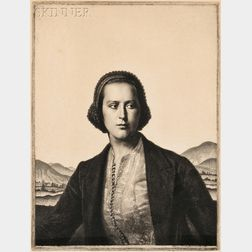 Gerald Leslie Brockhurst (British, 1890-1978)      Young Womanhood