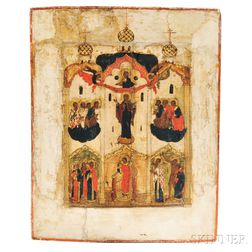 Russian Icon of Pokrov Mother of God