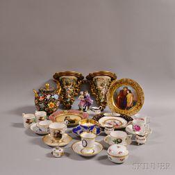 Twenty-eight Pieces of Continental Porcelain