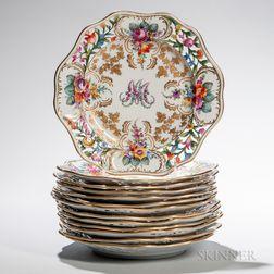 Thirteen Dresden Porcelain Plates