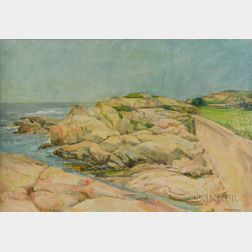 Pasquale (Pat) Masiello (American, 1912-1987)      Rocky Coast with Calm Waters