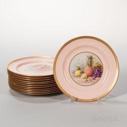 Set of Twelve Lenox China Fruit Plates