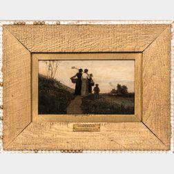Edward Mitchell Bannister (Massachusetts/Rhode Island/Canada, 1828-1901)      Homeward