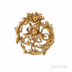 Art Nouveau Tiffany & Co. 14kt Gold Watch Pin