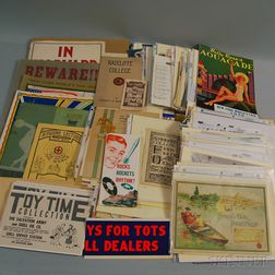 Group of Early 20th Century Paper Doll, Historic Exposition, and Club/Organization   Ephemera