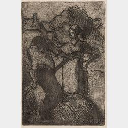 Camille Pissarro (Danish/French, 1830-1903)      Couple de Paysans