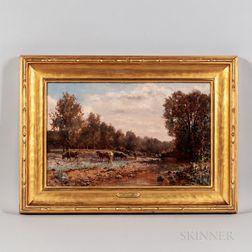 William P. Phelps (New Hampshire, 1848-1923)      On Monadnock Brook