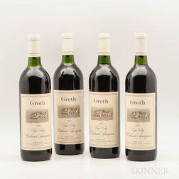 Groth Cabernet Sauvignon 1989, 4 bottles