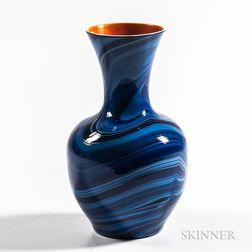Imperial Art Glass Marbleized Vase