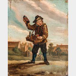 Manner of David Teniers II (Flemish, 1610-1690)      Quack Peddling Elixirs/An Allegory of Taste