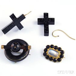Small Group of Victorian Mourning Jewelry