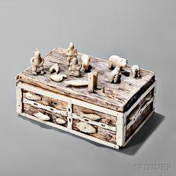 East Greenland Wood and Bone Trinket Box