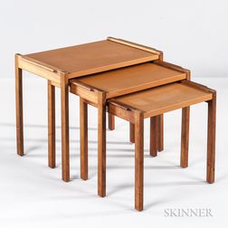 Three Jens Risom Nesting Tables