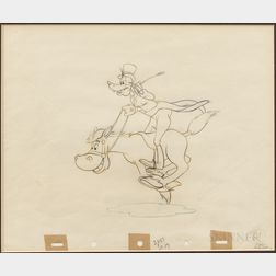Animation Drawing of Goofy.