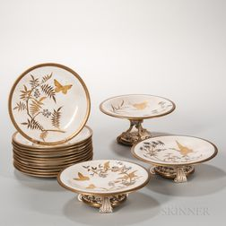 Fifteen-piece Worcester Porcelain Partial Service