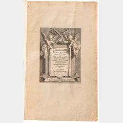 Goeree, Jan (1670-1731) Godturugtige Almanach of Lof-Gedachtenis der Heyligen.