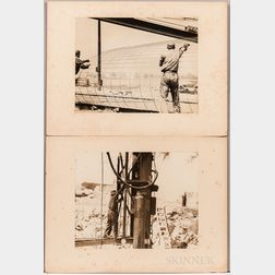 Kravitt, Samuel (1913-2000) Fifteen Original Photographs Taken During the Construction of the 1939 World's Fair.