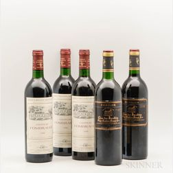 Mixed St. Emilion Wines, 5 bottles