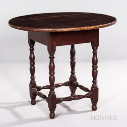 Circular-top Turned-leg Tavern Table