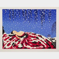 (Romain de Tirtoff) Erté (Russian/French, 1892-1990)   Two Prints of Ladies of Winter