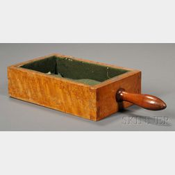 Shaker Bird's-eye Maple and Maple Church Collection Box