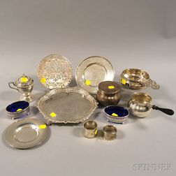 Group of Assorted Mostly Sterling Silver Tableware