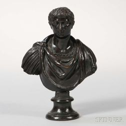 Continental School, Late 19th Century       Bronze Bust of Tiberio