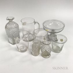 Group of Blown Glass Items