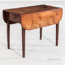 Red-washed Tiger Maple Pembroke Table