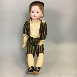 Large Bahr & Proschild Bisque Head Character Boy Doll