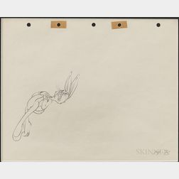 Animation Drawing of Bugs Bunny.