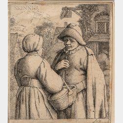 Adriaen Jansz van Ostade (Dutch, 1610-1685)      Three Works: Peasant in a Pointed Fur Cap
