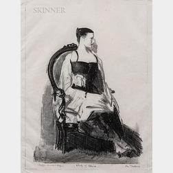 George Bellows (American, 1882-1925)      Elsie, Figure