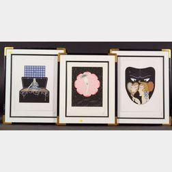 (Romain de Tirtoff) Erté (Russian/French, 1892-1990)   Four Art Deco Style Prints