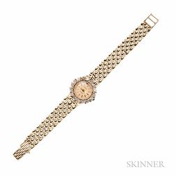 Lady's 14kt Gold and Diamond Wristwatch