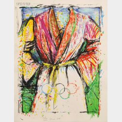 Jim Dine (American, b. 1935)      Multicolored Robe for the Seoul Olympics