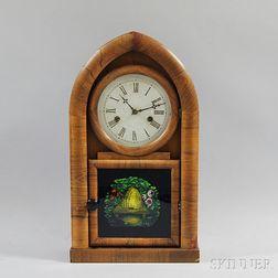 Ansonia Clock Co. Walnut Veneer Beehive Clock