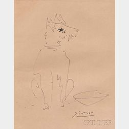 Attributed to Pablo Picasso (Spanish, 1881-1973)      Chien
