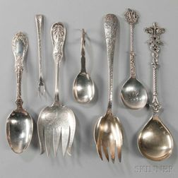 Seven Pieces of Silver Flatware