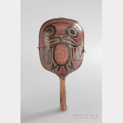 Tsimshian Carved and Painted Wood Shaman's Rattle