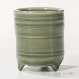 Makoto Yabe (1947-2005) Celadon Studio Pottery Incense Burner