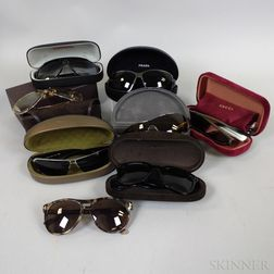 Eight Pairs of Designer Sunglasses