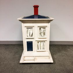 White-painted Four-room Doll House