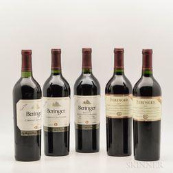 Beringer, 5 bottles