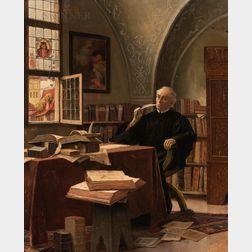 Alois Heinrich Priechenfried (Austrian, 1867-1953)      A Scholar at Work