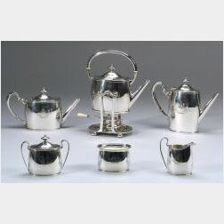 Arthur Stone Sterling Silver Six-Piece Tea and Coffee Service