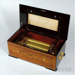 Rare Mandoline Expression Revolver Musical Box by Ami Rivenc