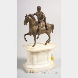 Bronze Grand Tour Equestrian Figure of Marcus Aurelius