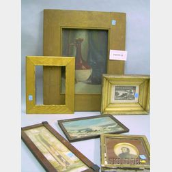 Eleven 19th and 20th Century Prints, Paintings, and a Small Frame