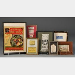 Seven Small Frames with Shaker and Shaker-related Advertising
